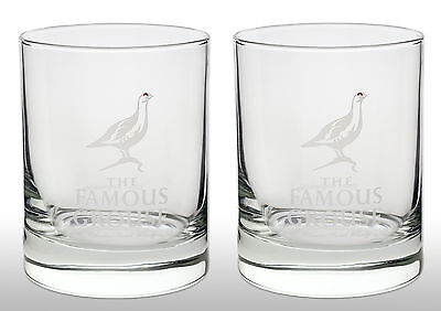 The Famous Grouse Whisky Tumbler Glass X 2
