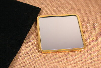 Dior Compact Gold Tone Mirror With Black Pouch