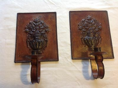 2 Vintage Wall Candle Sconces