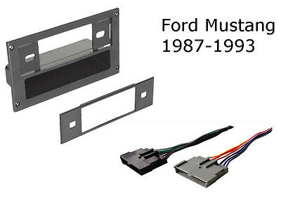 Ford Mustang 1987-1993 Single Din Dash Kit/Pocket with Harness - BKFMK504