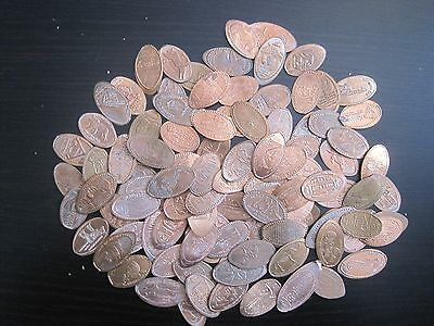 Nice Mix Of 100 ALL DIFFERENT Elongated Pennies Cents Lot 1C130