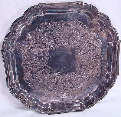 Gorham Vintage Heritage Square Silver-Plated Serving Tray