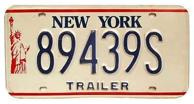 """Vintage New York """"Statue of Liberty"""" Trailer License Plate, Airstream, Kenskill"""