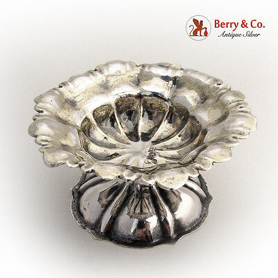 Russian 84 Standard Silver Ornate Open Salt Dish 1861 Moscow