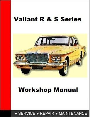 Chrysler Valiant R and S Series Sevice Repair Manual On CD