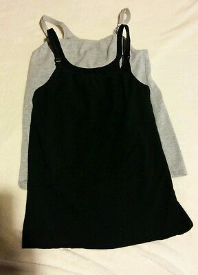 Lot of 2 Nursing Tank Tops Size Small