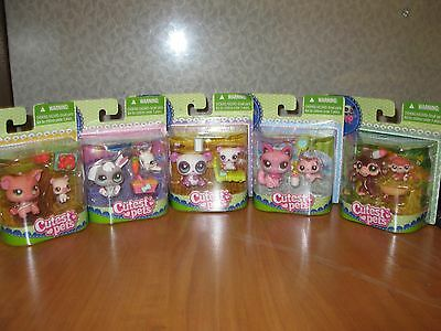 Littlest Pet Shop Animals, 5 Total Mommy And Baby
