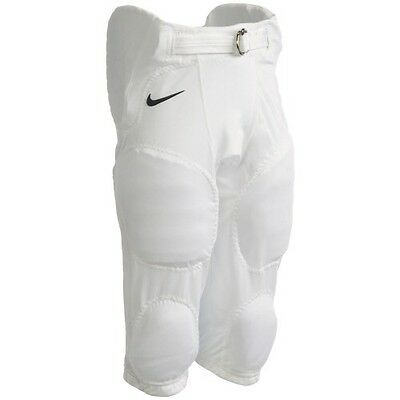 Nike Youth Recruit Integrated Football Pants Pads Padded White Boys MSRP $40 NEW