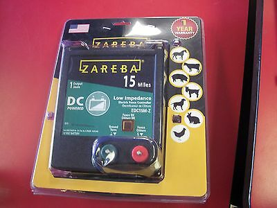 Zareba EAC15M-Z 25-Mile Low Impedance Electric Fence Controller NEW