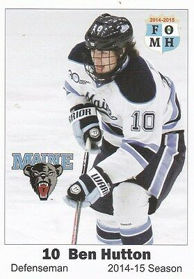 2014-15 Ben Hutton University of Maine  LIMITED  College Card Vancouver Canucks