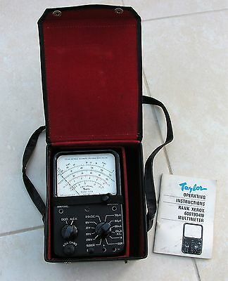 Taylor Multimeter, Carry Case, I/Book, Rank Xerox, Vintage 1970's