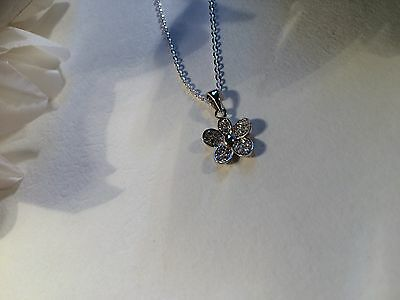 Sterling Silver and Zirconia Pendant and Chain