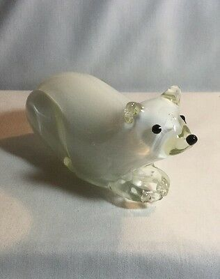 """Large MURANO GLASS POLAR BEAR FIGURINE Paperweight """"Great Condition"""""""