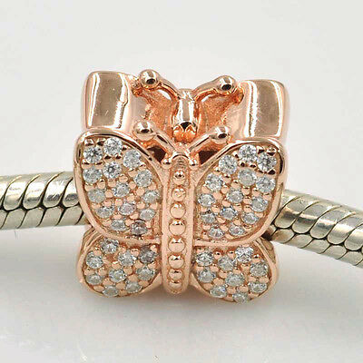 Pandora rose gold collection butterfly charm (genuine, ALE R)