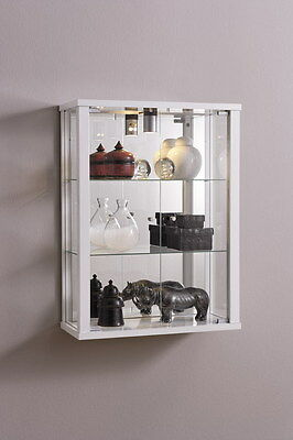 Retail Shop Wall Mounted Glass Display Cabinet Double with Internal Light Vapes