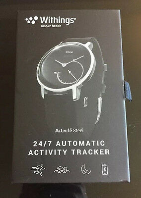 BRAND NEW SEALED BOX Withings Activite Steel Activity Tracker Black/Steel