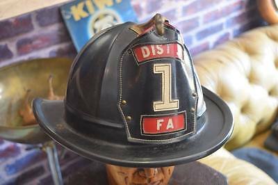 Genuine Fire Wardens Helmet Vintage American Dist 5 1 FA  Cairns & Brother Inc