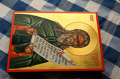 hand painted Icon of St Herman of Alaska
