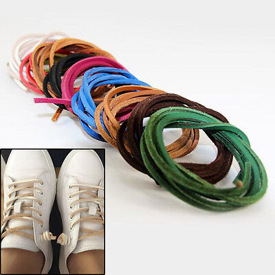 Leather Shoelaces Unisex Boat Shoe Laces Square Shoestring Leisure Thin Bootlace