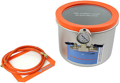3 Gallon WIDE Glass Vac Stainless Steel Vacuum Chamber