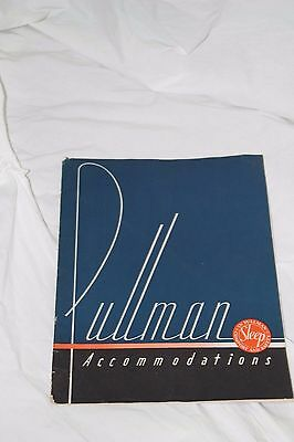 Pullman Accommodations Advertising Booklet 1934