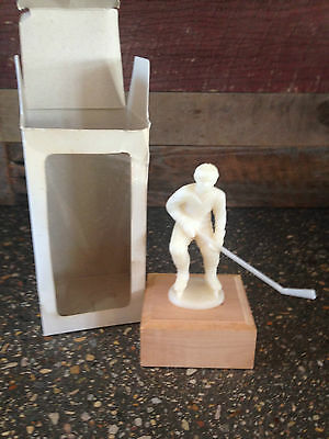 Vintage Antique Hockey Bobby Orr Figurine On Wood Stand In Box