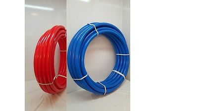 """200' 3/4"""" Non Oxygen Barrier PEX tubing 100' RED and 100' BLUE"""