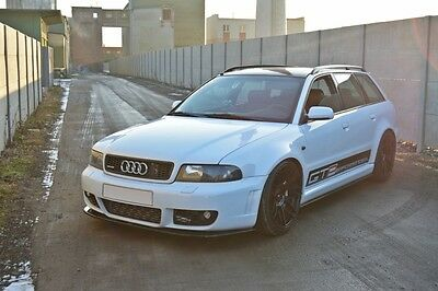 Cup Spoilerlippe Front Diffusor Schwarz Glanz AUDI A4 RS4 B5
