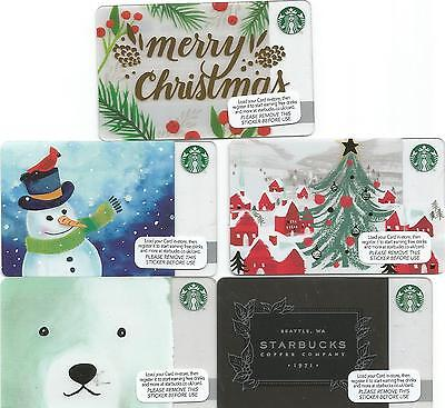 Starbucks UK Gift Cards - the set of 5 cards for Christmas 2016