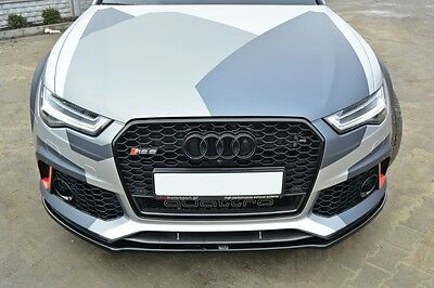 Cup Spoilerlippe Front Diffusor Carbon Look v.1 AUDI A6 RS6 C7 AVANT