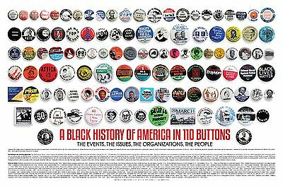 A Black History of America in 110 Buttons - An African American History Poster