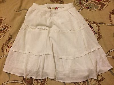 Girls John Lewis - White Summer Skirt Age 4 (3-4 Years) Excellent Condition