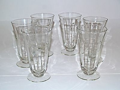 Old Crystal Etched Star/Rays Wine/ Water/Tall Sherbet Glass In Great Shape