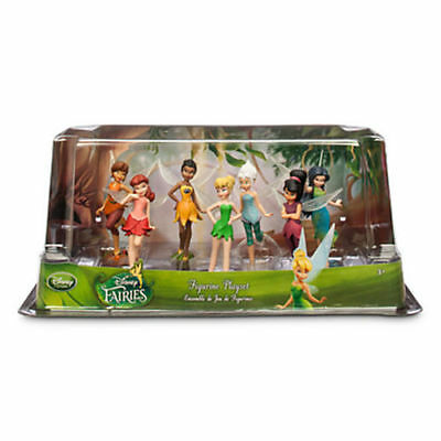 Disney peter Pan TINKERBELL FAIRIES Figure Figurine PLAY SET - NEW