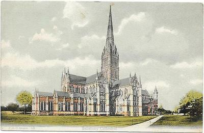 PC SALISBURY CATHEDRAL  UNPOSTED c1910
