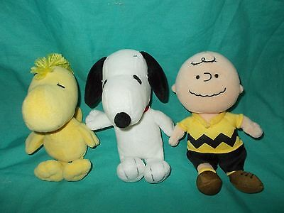 Ty Beanie Babies Peanuts Gang Beanbag plush dolls Music Theme Song Lot of 3