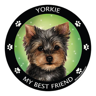My Yorkshire Terrier Yorkie Is My Best Friend Dog Car Magnet