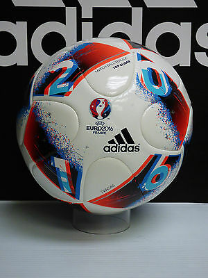 NEW AUTHENTIC ADIDAS UEFA Euro 2016 Top Glider Soccer ball - White/Red; size 5