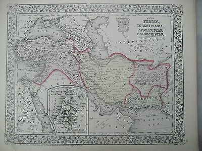 Mitchell's 1872 map, Persia, Turkey, Afghanistan, Holy Land