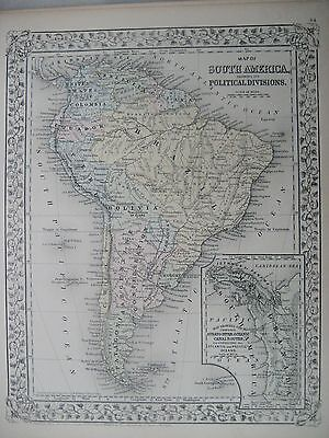 Mitchell's 1872 map, South America