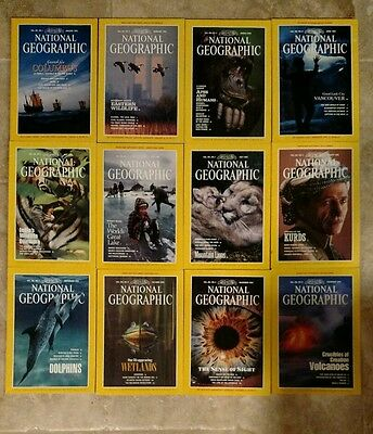National Geographic Magazine - 1992  ALL 12 issues complete lot