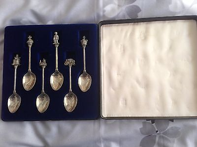 Set Of 6 Silver Jubilee Collector Spoons 1952 To 1977
