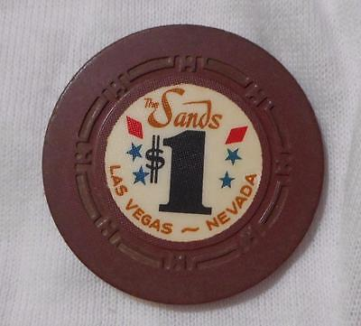 The Sands Las Vegas Casino Chip - $1 One Dollar - EXTREMELY RARE See Pics!