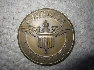 Large Junior Achievement Bronze Medal Award FREE SHIPPING!