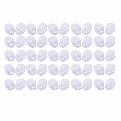 25 Pairs of Silicone Eyeglass Nose Pads Push In Round 9mm BT