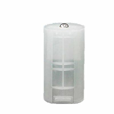 8 x AA to D Size Battery Adapter White Case BT