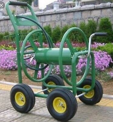 "Garden Hose Reel Cart Trolley Powder Coated Steel hold 100M of 3/4"" Water Hose"