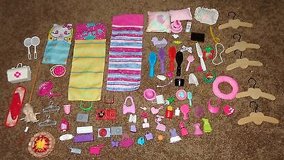 Big Mixed Lot Of Barbie & Other Doll Accessories Radio Record Player Fire Pit ++