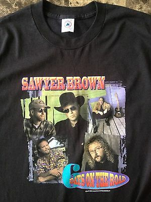 Never Worn Sawyer Brown 6 Days on the Road Black Tour Concert T-Shirt XL 1997
