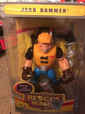 Rescue Heroes-Collectors Edition-Jack Hammer-acrylic box NEW SEALED!